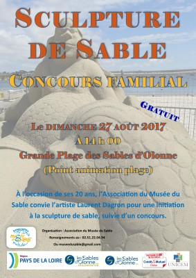 affiche animation Sculpture de Sable 27.08